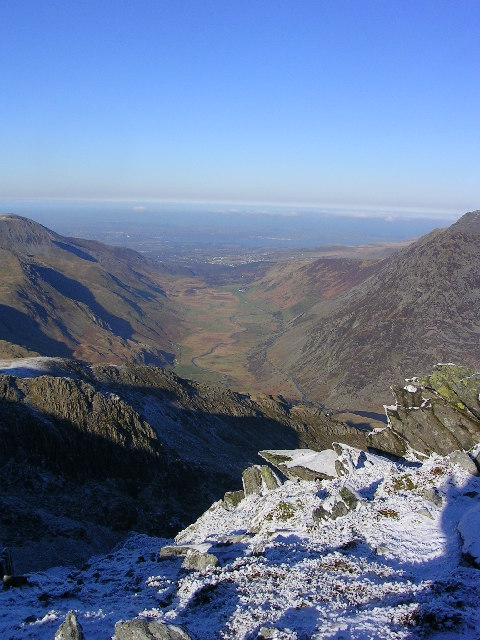 Nant Ffrancon from the Glyders
