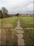 SE1321 : Path at Boothroyd, Rastrick, Yorkshire by Humphrey Bolton
