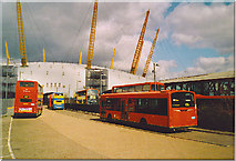 TQ3980 : North Greenwich Bus Station, Millennium Dome. by Colin Smith