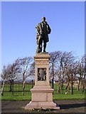 NS3139 : Burns Statue by Chris Court