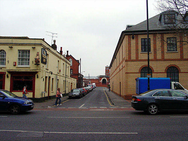 Looking up Cambridge Road to Horfield Prison