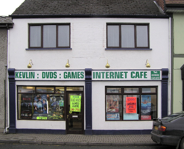 Internet Cafe, Omagh by Kenneth  Allen