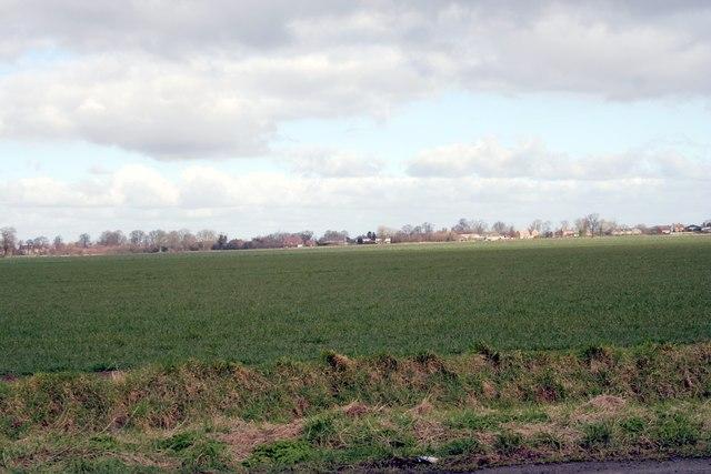 Fields along Mill Lane Bourne
