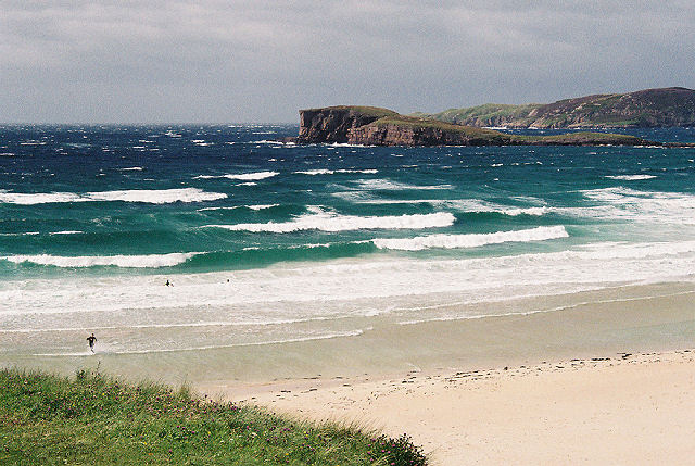 Oldshoremore Beach on a blustery day