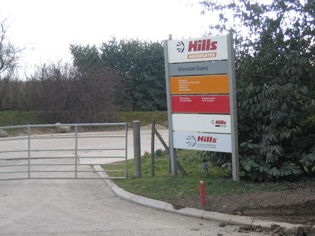 Entrance to Hills Gravel Pit at Shorncote