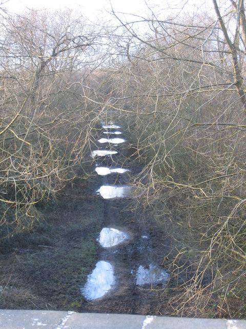 Bridleway on old railwayline near Cerney Wick