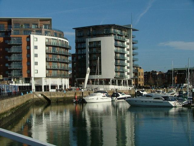 Southampton Port On Sunny Day