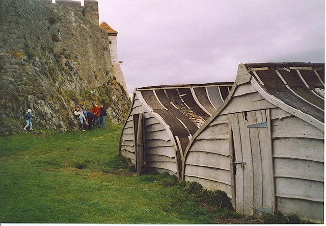 Boat Huts, Holy Island.