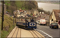 SH7782 : Great Orme Tramway, Llandudno - lower section by Dr Neil Clifton