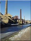SE1437 : Chimneys along the canal, Shipley by Rich Tea