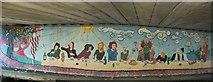 SE1437 : Canalside Mural, Shipley Bridge by Rich Tea