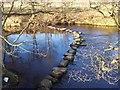 SK2181 : Stepping Stones, River Derwent by Chris Heaton