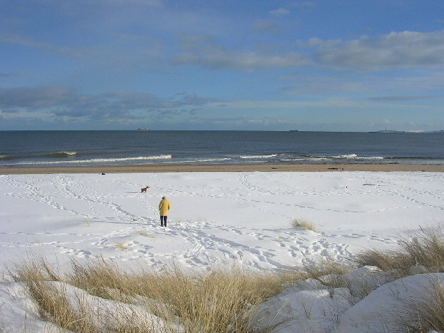 Snow Covered Beach At Donmouth