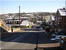 SE1321 : Castlefields Road, Rastrick (SE137218) by Humphrey Bolton