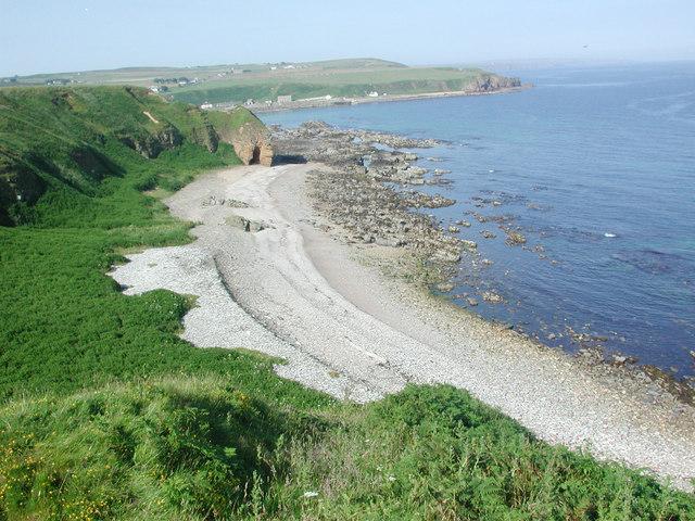 Dunbeath Castle beach