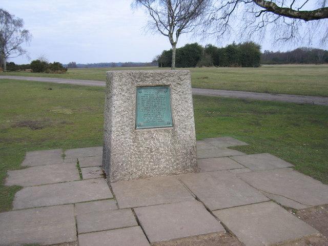 The Jamboree Stone, Sutton Park, Sutton Coldfield.