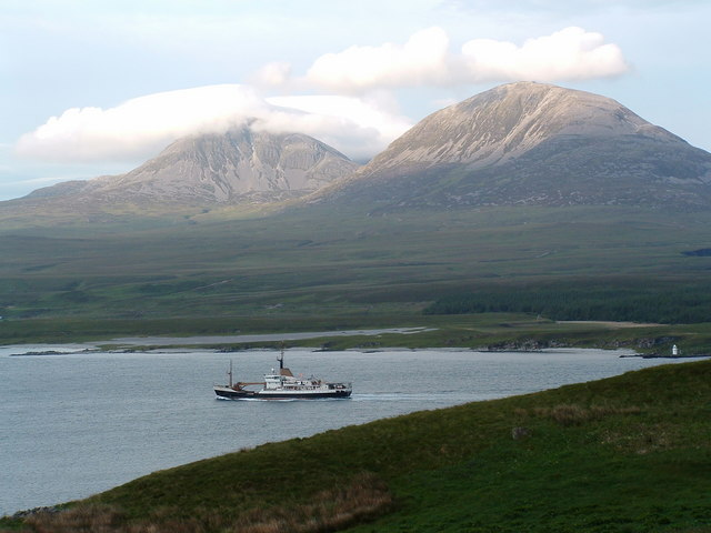 From Nr Loch Ardnahoe Islay looking to Jura