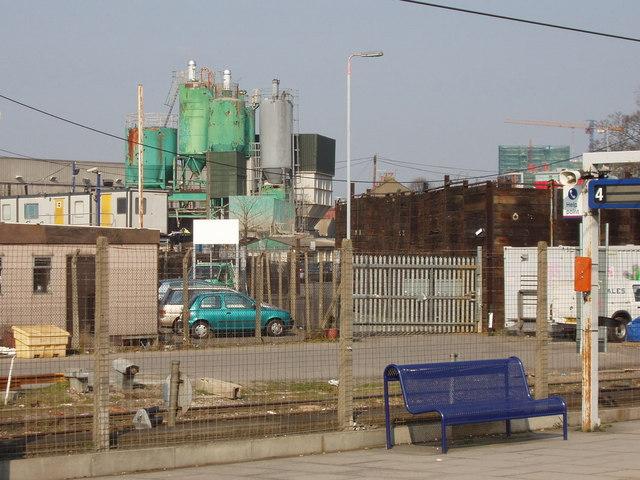 Concrete premix plant, Acton goods yard