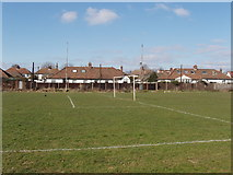 TQ2081 : Football pitch, off Horn Lane, North Acton by David Hawgood