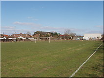 TQ2081 : Football pitch behind Lowfield Road, North Acton by David Hawgood