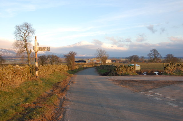 The turn off to Hunsonby just before Robberby
