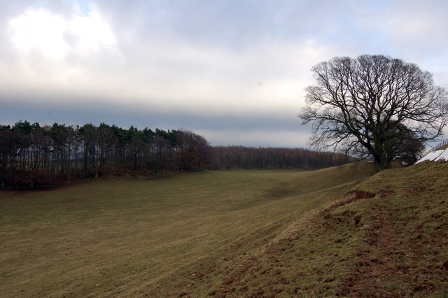 Looking South East along the footpath to Old Parks
