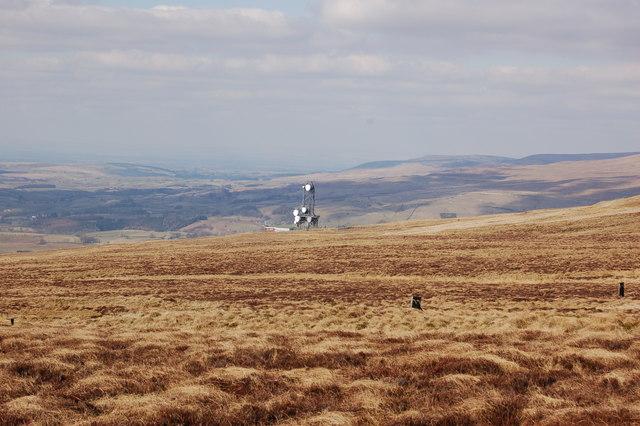 Telecommunications tower on Hartside