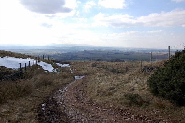Track from the Hartside road to Hazel Rigg