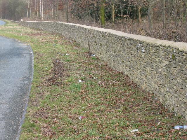 Drystone wall Badminton Estate