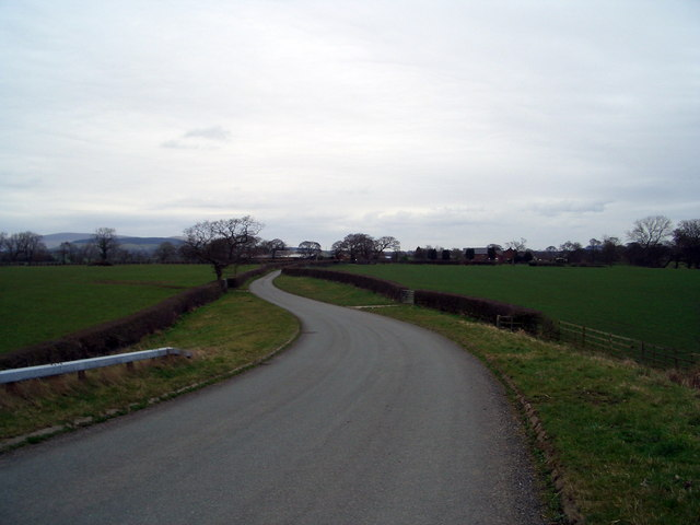 Looking East from the Motorway bridge towards Barton Old Hall Farm