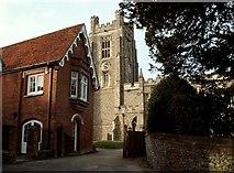 TL5234 : Church approach, Newport, Essex by Robert Edwards