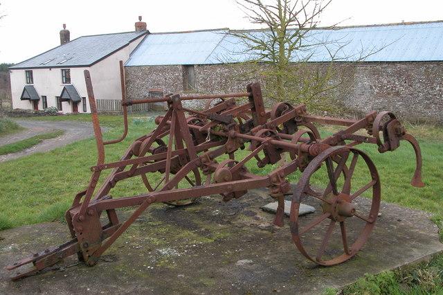Old farm machinery at Labdon