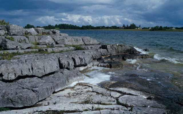 Limestone ledges at Lough Carra