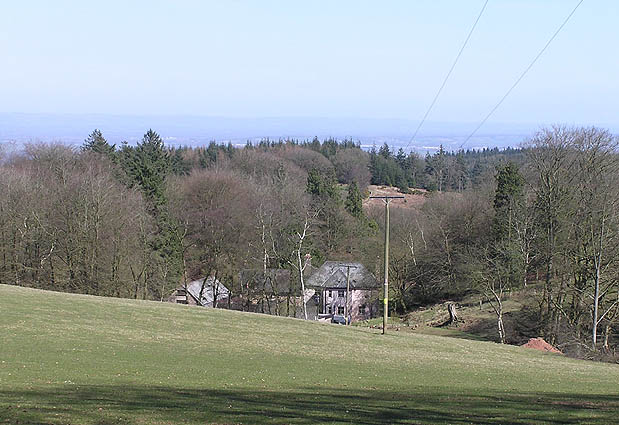 Great Quantock Farm from hill walk