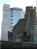 SS6593 : BT Tower and Swansea Castle by Aaron Jones