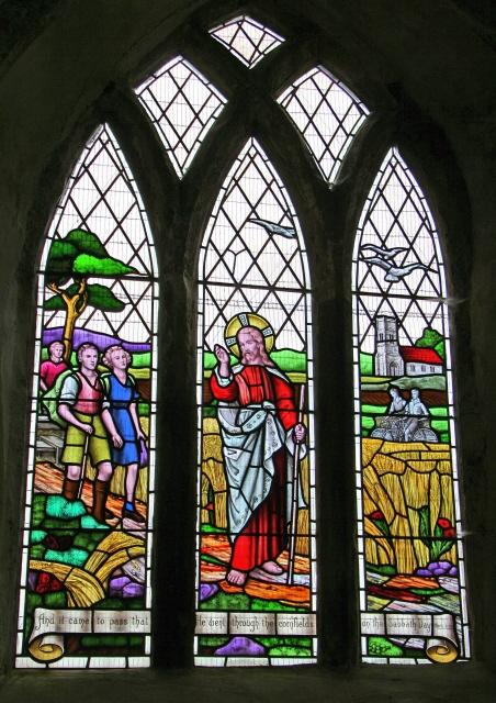 Ramblers' window, All Saints' Church, Walesby