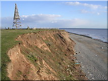 SD2063 : Cliff Top on Walney Island by Chris Upson
