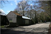 SW8139 : Corrugated Iron Building at the Crossroads by Tony Atkin