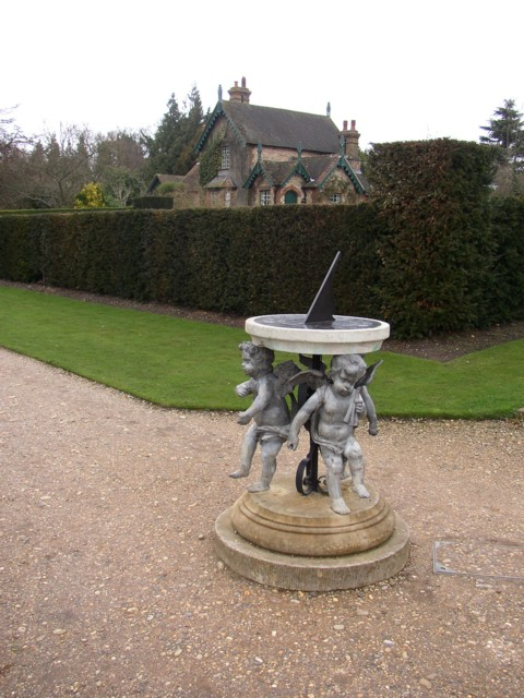 Sundial in the walled garden, Polesden Lacey, Great Bookham