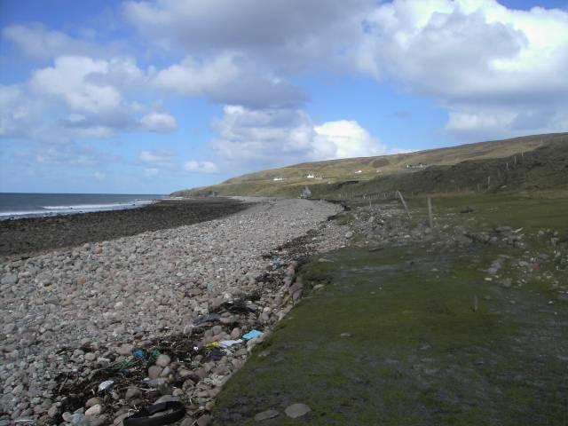Stony beach of Cladach Melvaig