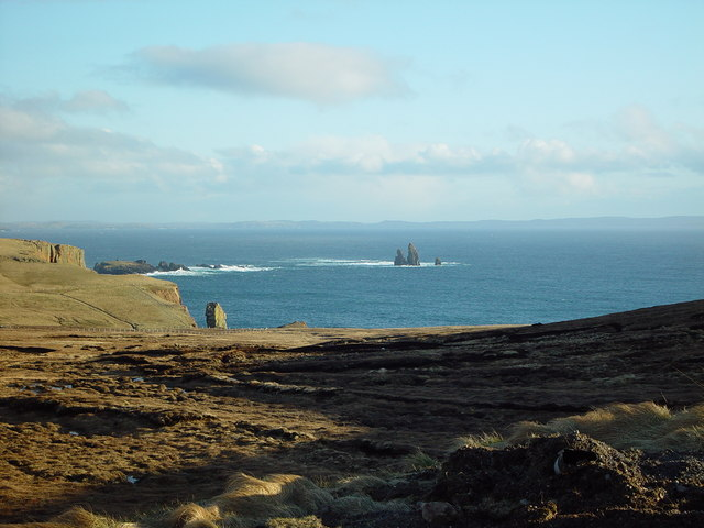View over Heads of Grocken, Eshaness, Shetland