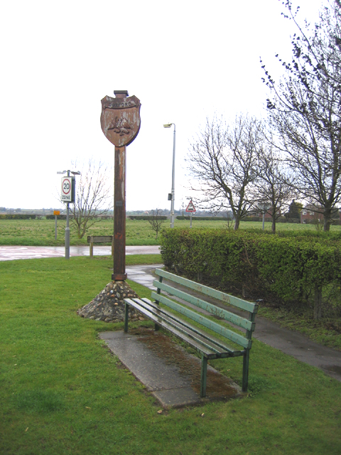 Village sign, Duxford, Cambs
