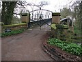 NZ3209 : The private bridge over the river Tees at Eryholme by Nick W