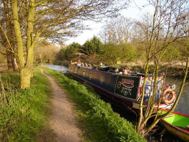 Narrowboat on the River Stort, Bishops Stortford