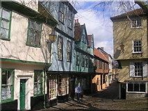 TG2308 : Elm Hill, Norwich by Richard Slessor