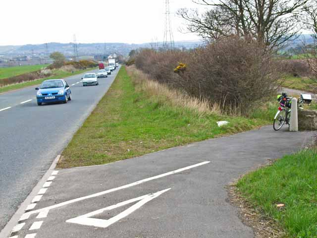 Cycle track behind the A688