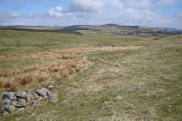Open Moorland, burn and pond
