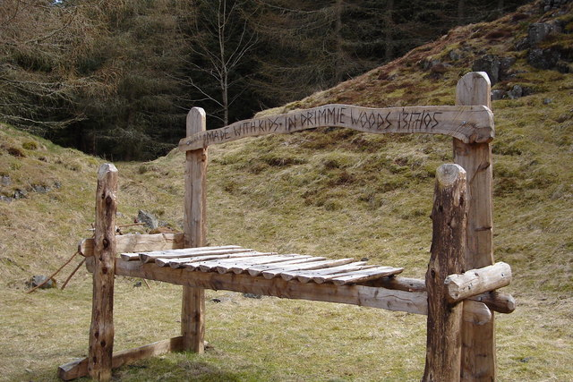 Large Wooden Xylophone in Drimmie Woods