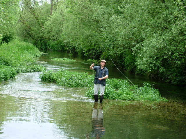 Fishing on the River Lambourn