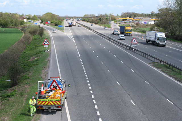 Trull: the M5 at Taunton Deane Services